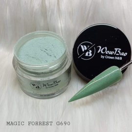 WowBao Nails acryl poeder Glitter nr G690 Magic Forrest 28g
