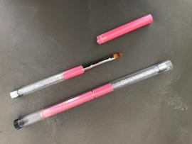 Metoe Nails Ombre Penseel met Crystal Roze