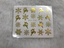 Waterdecal kerst/winter STZ-Y25 goud