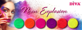 Diva Neon Explosion Pure Pigmenten inclusief 6 applicators