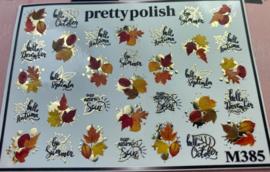 Pretty Polish | Slider | Waterdecal M385 - Herfst
