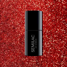 Semilac gelpolish 318 Burgundy Red Glitter 7ml