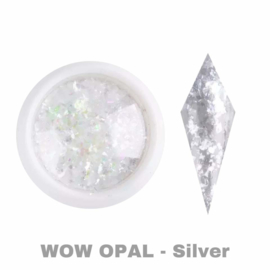 WowBao Nails Wow Opal Flakes - Silver