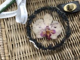 Handgemaakte display orchidee black/pruple
