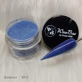 WowBao Nails acryl poeder Glitter nr 803 Armour 28g