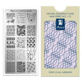 Moyra Mini Stempel Plaat 113 Love is all around