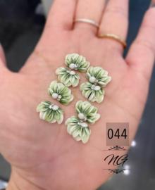 3D nailart bloem acryl 44 groen
