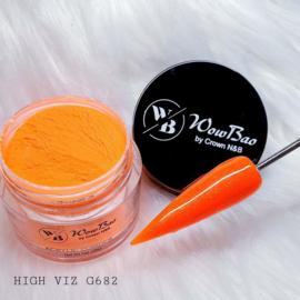 WowBao Nails acryl poeder Glitter nr G682 High Viz 28g