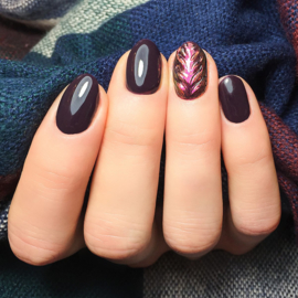 Semilac gelpolish 100 Black Purple 7ml
