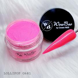 WowBao Nails acryl poeder Glitter nr G681 Lollipop 28g