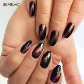 Semilac 3D Cat Eye gelpolish Gold 635