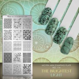 Moyra Mini Stempel Plaat 114 The Brightest Light