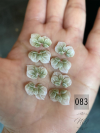 3D nailart bloem acryl 83 groen