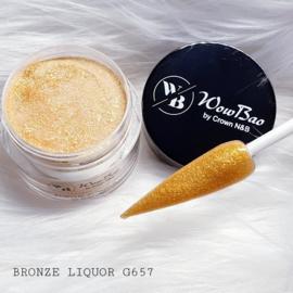 WowBao Nails acryl poeder Glitter nr G657 Bronze Liquor 28g
