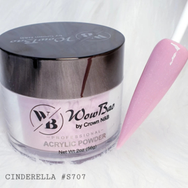WowBao Nails acryl poeder Shimmer nr S707 Cinderella 28g