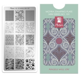 Moyra Mini Stempel Plaat 101 Angels will cry