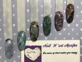 Nailart workshop Marble zat. 11 januari olv Marijke Voor Den Dag