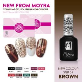 Moyra Stempel Gel Polish sgp09 Brown