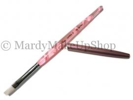 Gel penseel roze swirl nr. 8