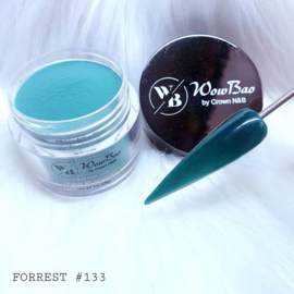 WowBao Nails acryl poeder nr 133 Forrest 28g
