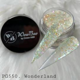 WowBao Nails acryl poeder Glitter nr 550 Wonderland 28g