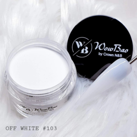 WowBao Nails acryl poeder nr 103 Off White 28g
