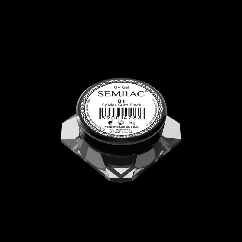 Semilac Spider Gum Gel 01 Black