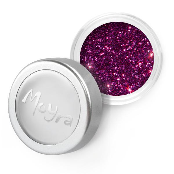 Moyra Glitter Powder 17 Donker paars holo