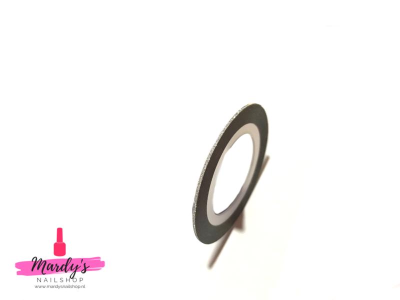 Striping Glitter Tape Zilver 1mm
