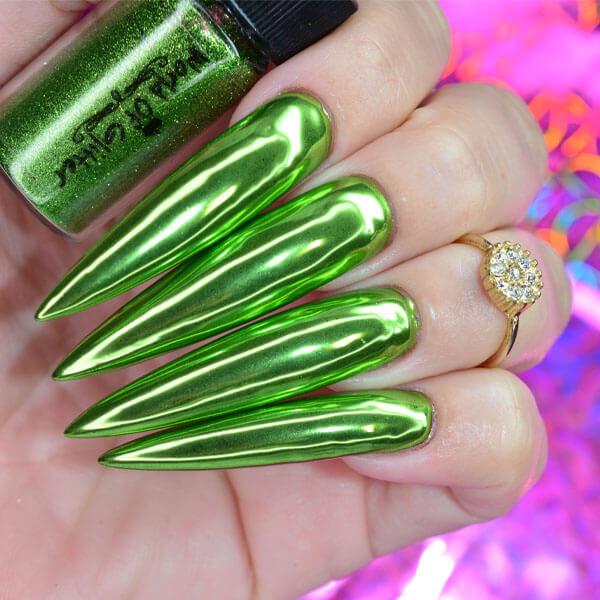 World of Glitter - Gravity Light Green Chrome Dust
