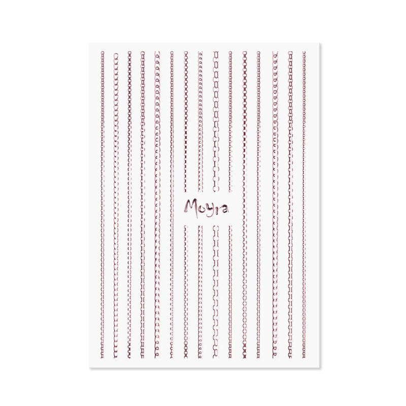 Moyra Nail Art Strip Chain 03 Rose gold