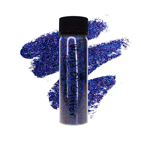 World of Glitter - Athens Blue Supercharged Holographic Nail Glitter