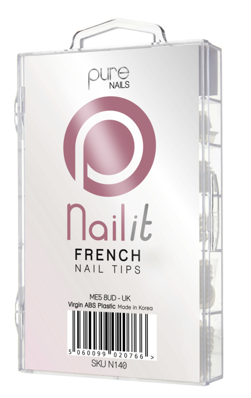 Pure Nails Tips French Half Well 100st.