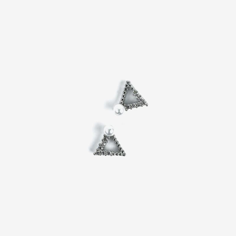 Semilac nailart triangle zilver 785 2pcs