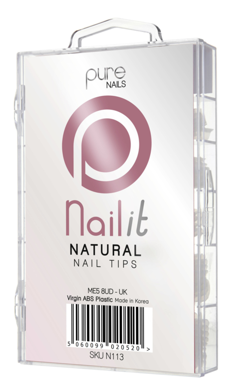 Pure Nails Tips Natural Full Well 100st.