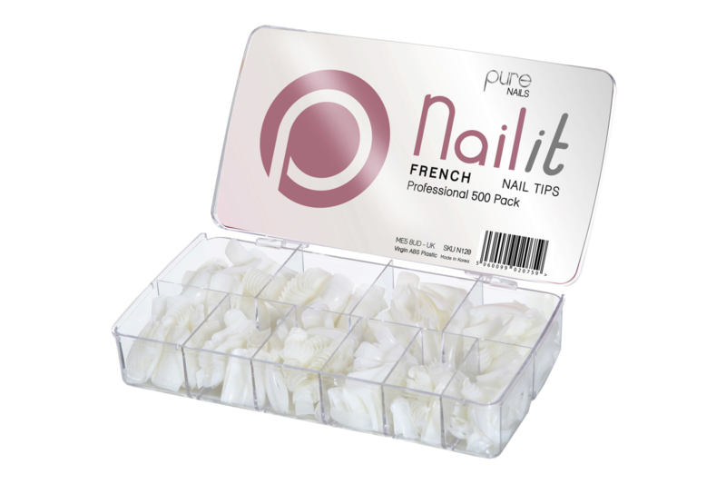 Pure Nails Tips French Half Well 500st.