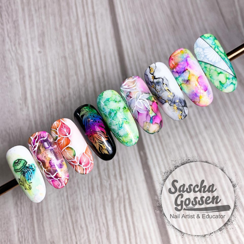 Nailart workshop ColorDrop don. 14 Mei olv Sascha Gossen