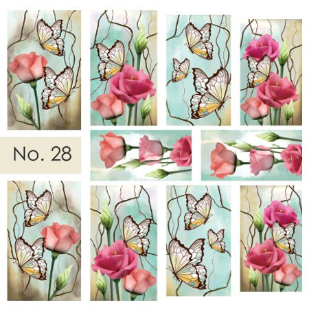 Moyra Water Transfer Nailart Sticker 28