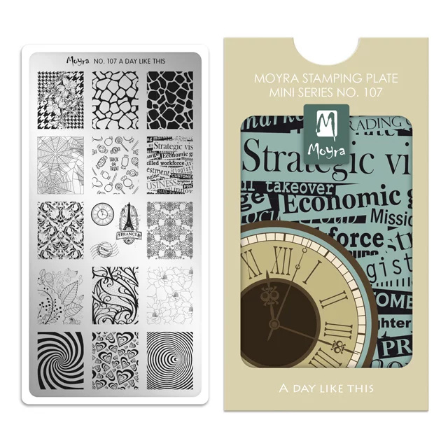 Moyra Mini Stempel Plaat 107 A Day Like This