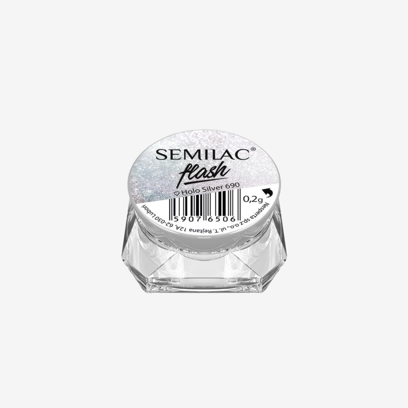 Semilac Flash Holo Silver 690 0,2g
