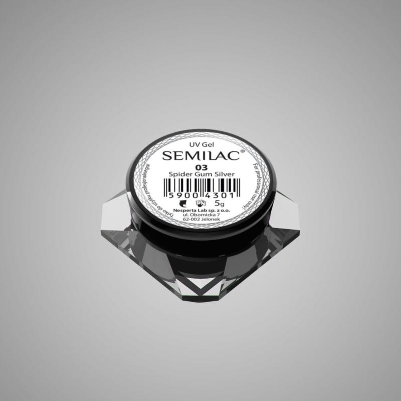 Semilac Spider Gum Gel 03 Silver