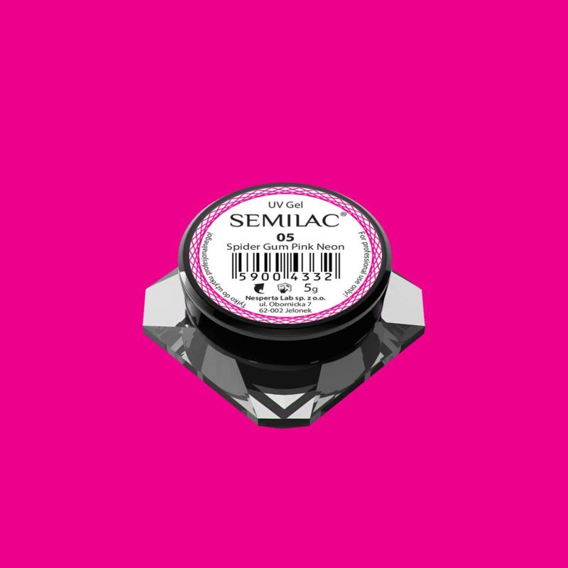Semilac Spider Gum Gel 05 Neon Pink