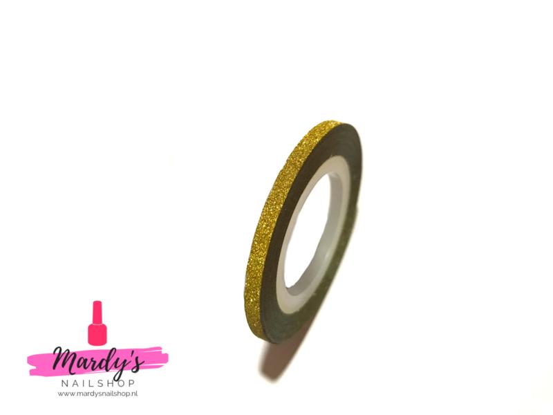 Striping Glitter Tape Goud 3mm