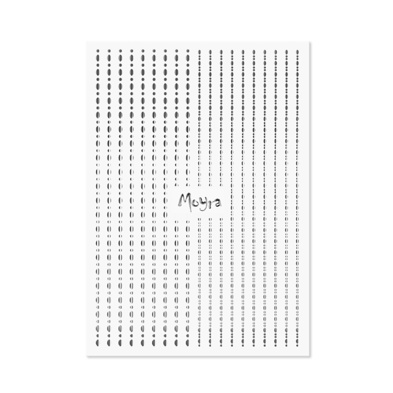 Moyra Nail Art Strip Dots 02 Zilver