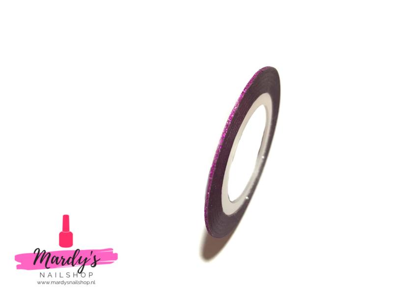 Striping Glitter Tape Roze 1mm