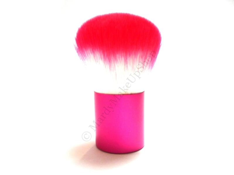 Stofkwast roze/wit