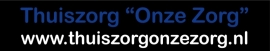 Thuiszorg - 2-kleurige autosticker