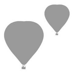 Wandsticker - Luchtballon