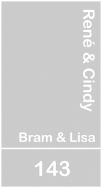 maatwerk raamfolie - Rene en Cindy