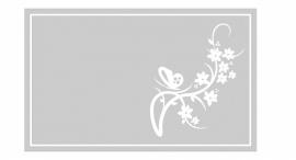 maatwerk raamfolie - kader met bloem